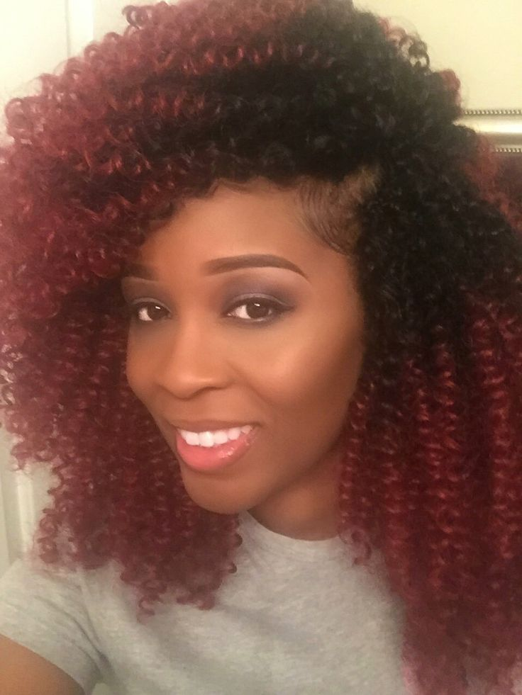 Different way to style your crochet braids