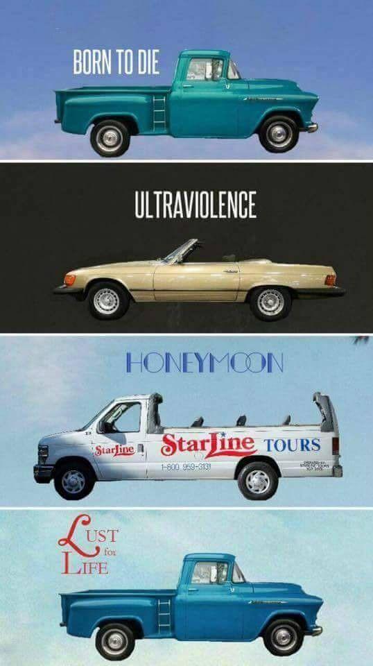 Lana Del Rey + discography + vehicles  #LDR