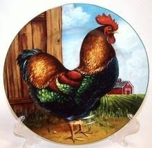 Sakura Oneida Rooster Plate On The Farm David Carter Brown