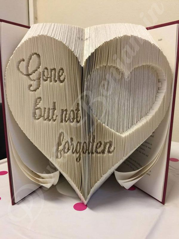 create your own piece of stunning book art with this beautiful gone but not forgotten combi - Free Book Pictures