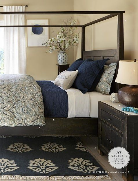 Pottery Barn Winter 2014 Catalog Highlights Blue & Indigo keep quilt I have, add indigo solid duvet.