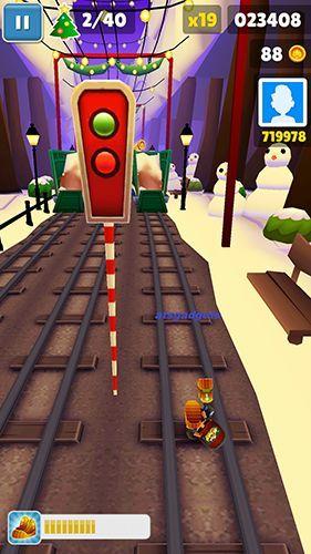 Subway surfers: World tour London: capturas de pantalla del juego para Android. Jugabilidad Surfistas de túneles: Gira Mundial de Londres.