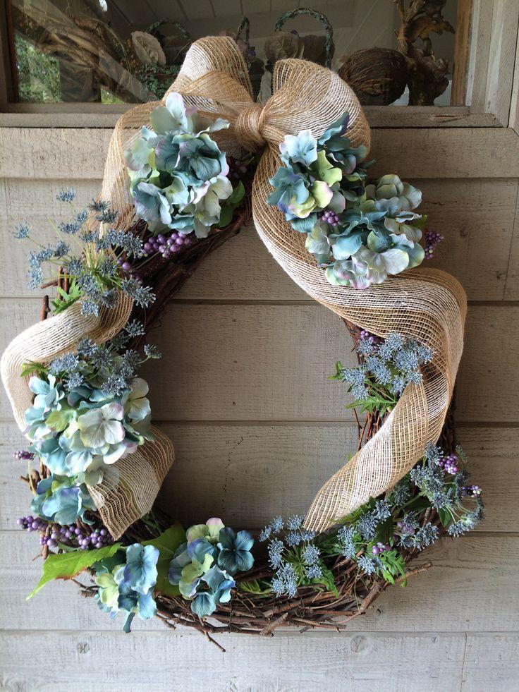 Half price materials from michaels door wreaths