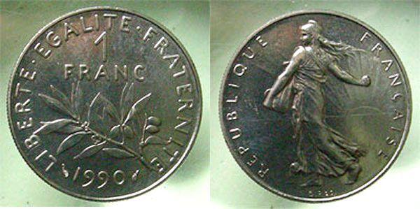 Cinquième république Vème République, 1 franc 1990, Gadoury 474 FDC   FDC