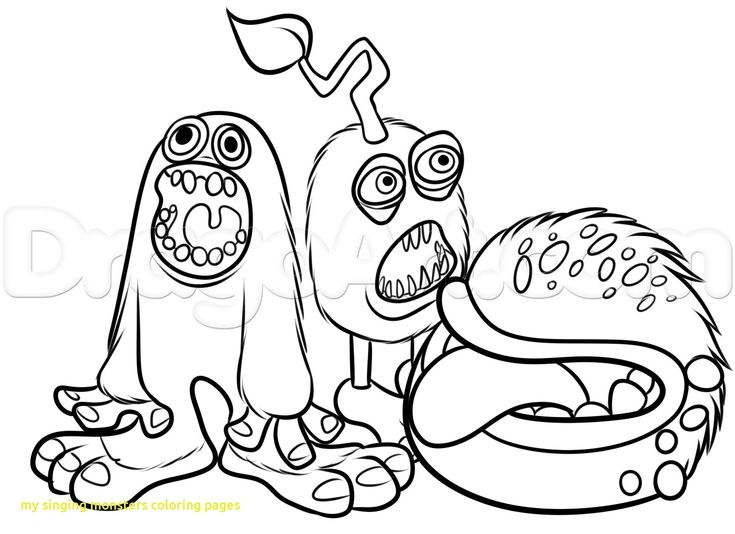 My Singing Monsters Coloring Pages Black And White Free