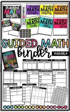 Editable Guided Math Binder to keep track and organize guided math!