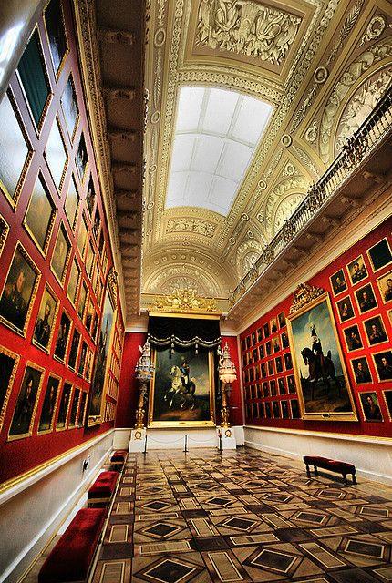 The Hermitage Museum in St. Petersburg, Russia.