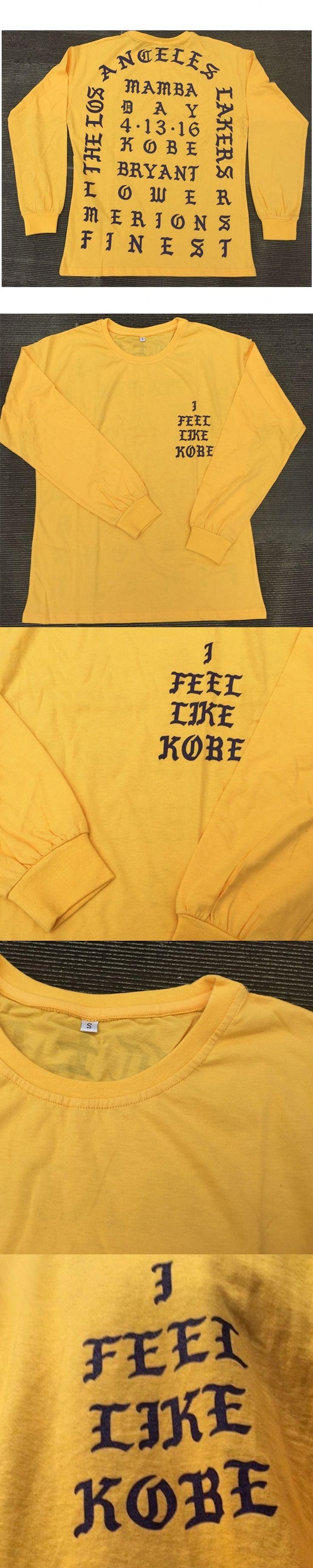 I Feel Like Kobe Mamba Day Pablo MSG Long Sleeve kanye west T shirt GOLD Color Purple Letters Weekend Life Freeshipping cmy1126