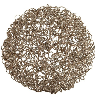 Gold & Champagne Crazy Wire Spheres