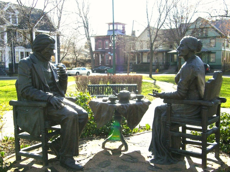 Douglass & Susan B Anthony statues, Rochester NY