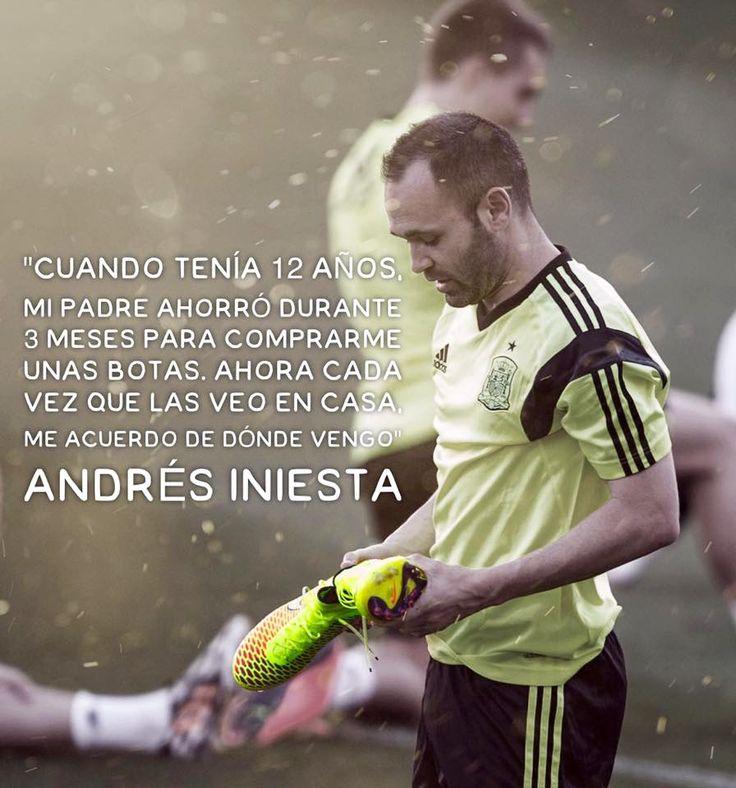 ⚽️ Andrés Iniesta ⚽️ Esto se llama Humildad!!