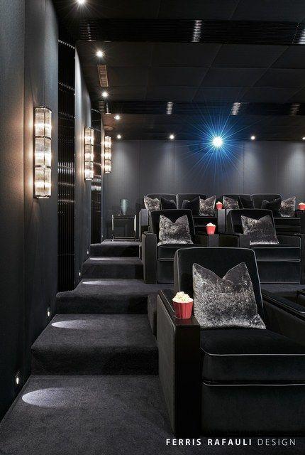 Home Gym - Luxurious media room designed by Ferris Rafauli - http://amzn.to/2fSI5XT