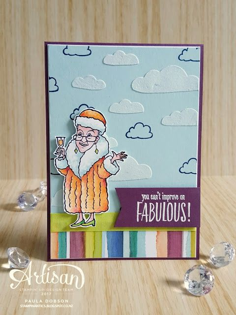 Paula Dobson - Stampinantics.  You've Got Style and This Little Piggy combine to make this fun, bright card. Click on the picture to see more of Paula's projects #pauladobson #stampinantics #youvegotstylestampset #thislittlepiggystampset