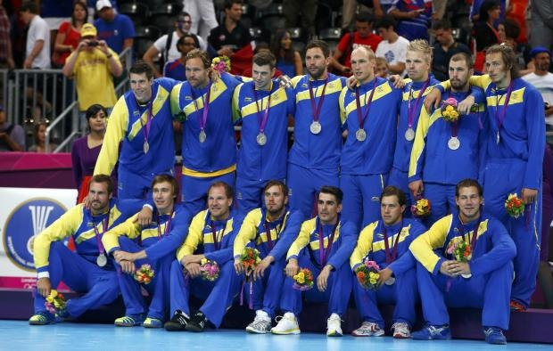 The silver medalist in handball from Sweden..