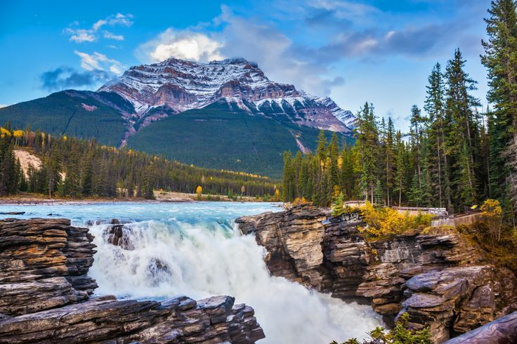 Athabasca Falls, Jasper National Park puzzle in Waterfalls jigsaw puzzles on TheJigsawPuzzles.com. Play full screen, enjoy Puzzle of the Day and thousands more.