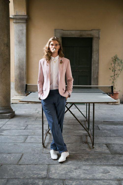Linnèo Archivable Clothing  bespoke groom suit  hipster groom  pink groom suit