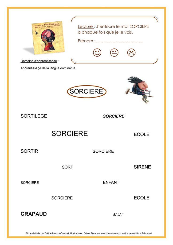 Plus de 150 fiches disponibles ici : http://fripouilleauteurjeunesse.blogspot.fr/2014/07/theme-sorcieres.html