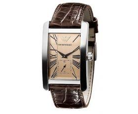 Armani AR0154 - Mens Classic Leather Strap Watch