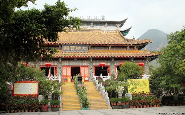 Templo Po Lin en la isla Lantau de Hong Kong.