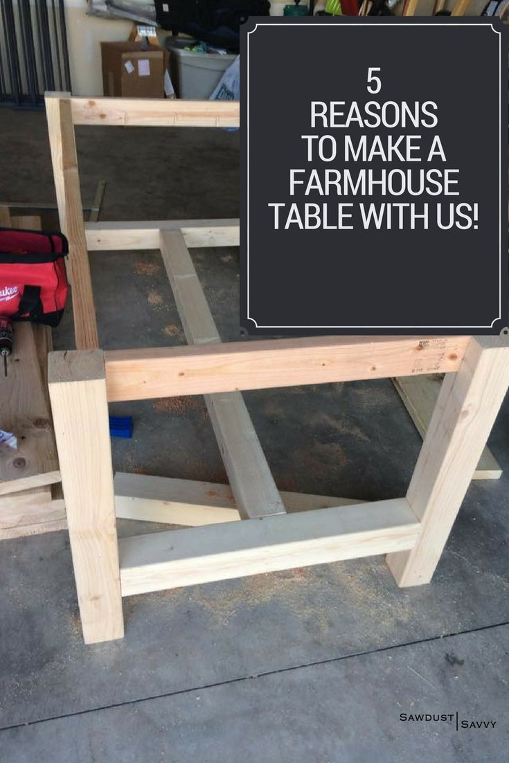 1. The table can be customized to fit your space. 2.You get to use POWER TOOLS! 3. It's only a 2 session course 4. We walk you through the steps and allow for hands-on learning 5. You can be proud of your finished project and brag that it was made by YOU! #diyproject #diyinspired #nailedit #easypeasy #sawdustsavvy #madewithloveatsawdustsavvy
