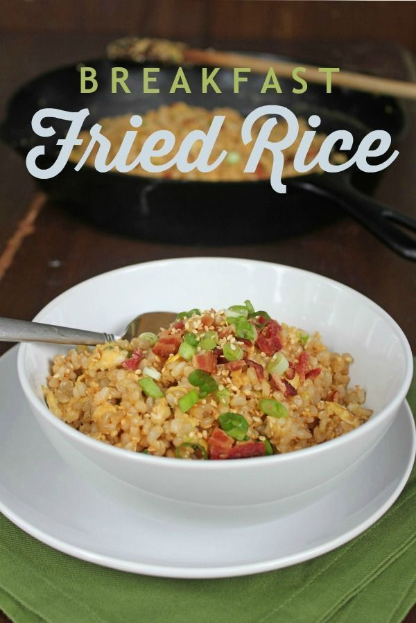 Breakfast fried rice pinterest fried rice rice recipes and fried rice recipe this fried rice variation uses leftovers and bits of almost anything ccuart Image collections