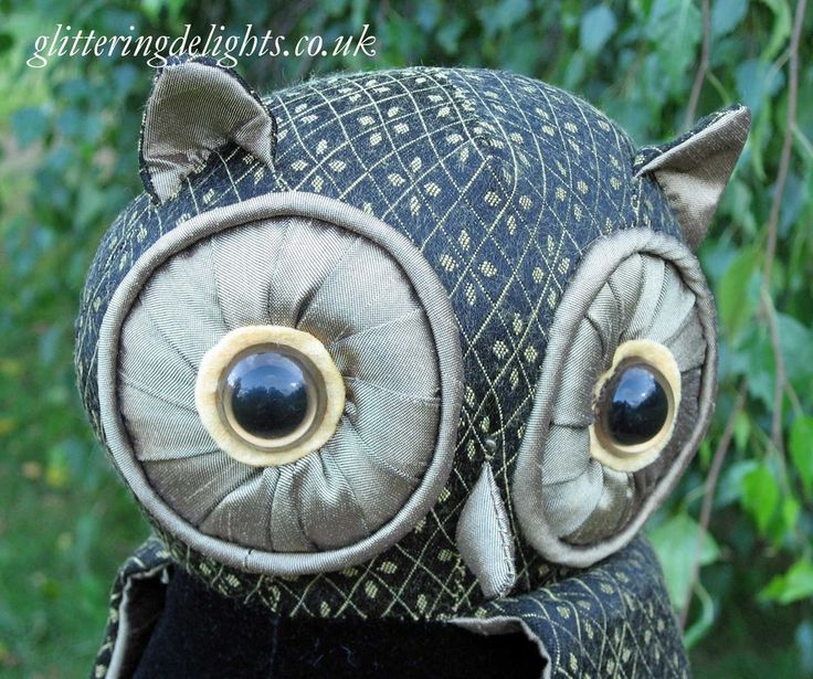 Glittering Delights -  Lord Oliver Wise Owl Doorstop