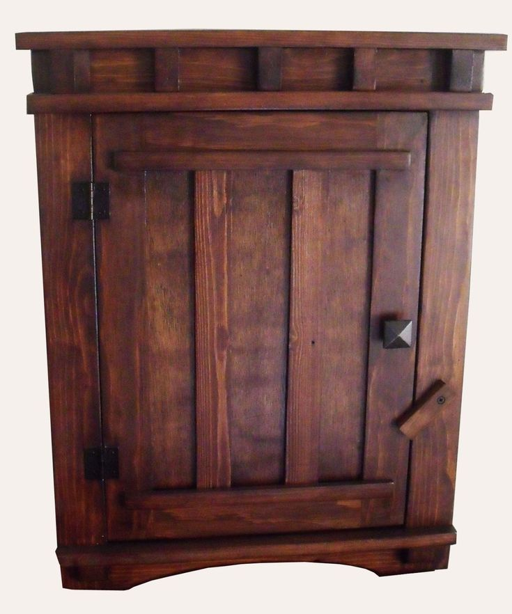 Arts and Crafts Mission Apothecary Wood Wall Hanging Cabinet   eBay
