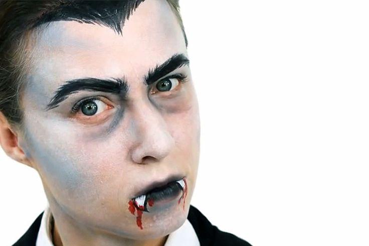face paint vampire half face - Google Search
