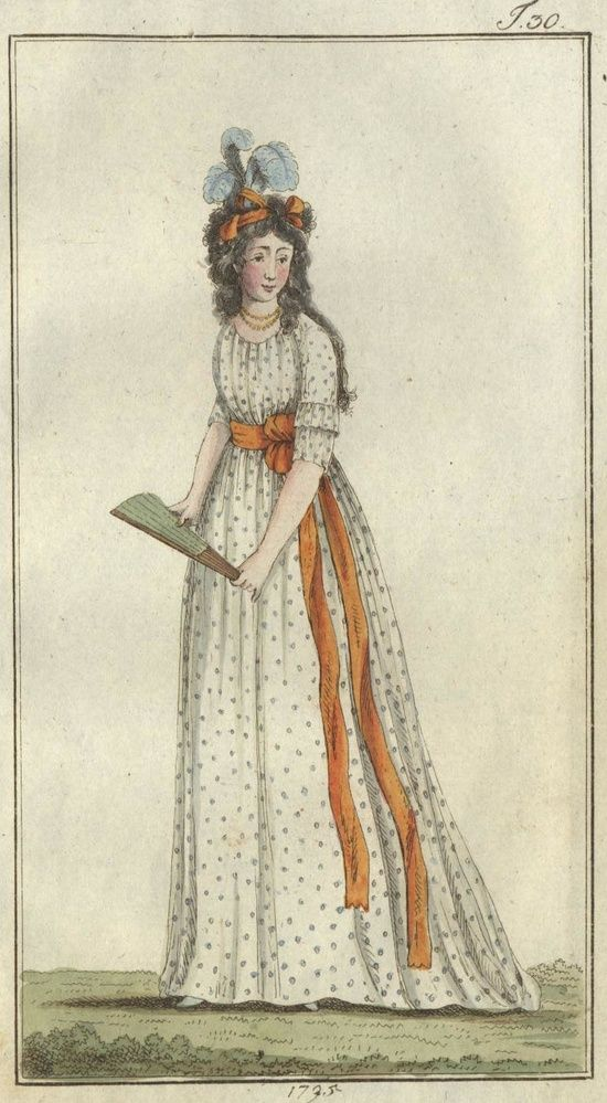 """""""Robe a La Chemise""""Chemise a l'Anglaise,and illustration from October 1795"""