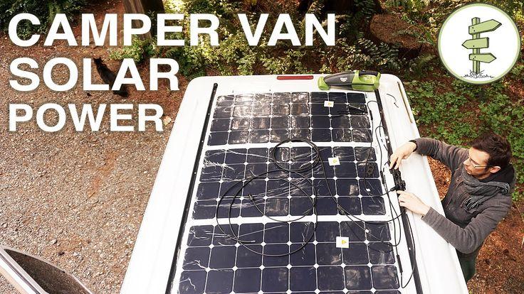 Van Life - Our Amazing Stealth Solar Power Set up!  Off Grid Camper Van …