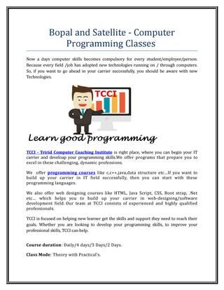 Computer programming classes - Breakfast fullerton ca