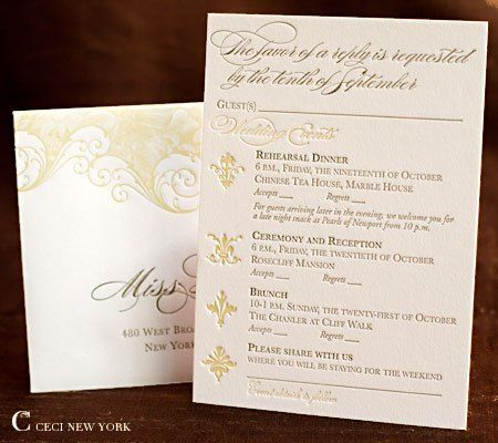 Multiple Event Rsvp Card Google Search Weddings
