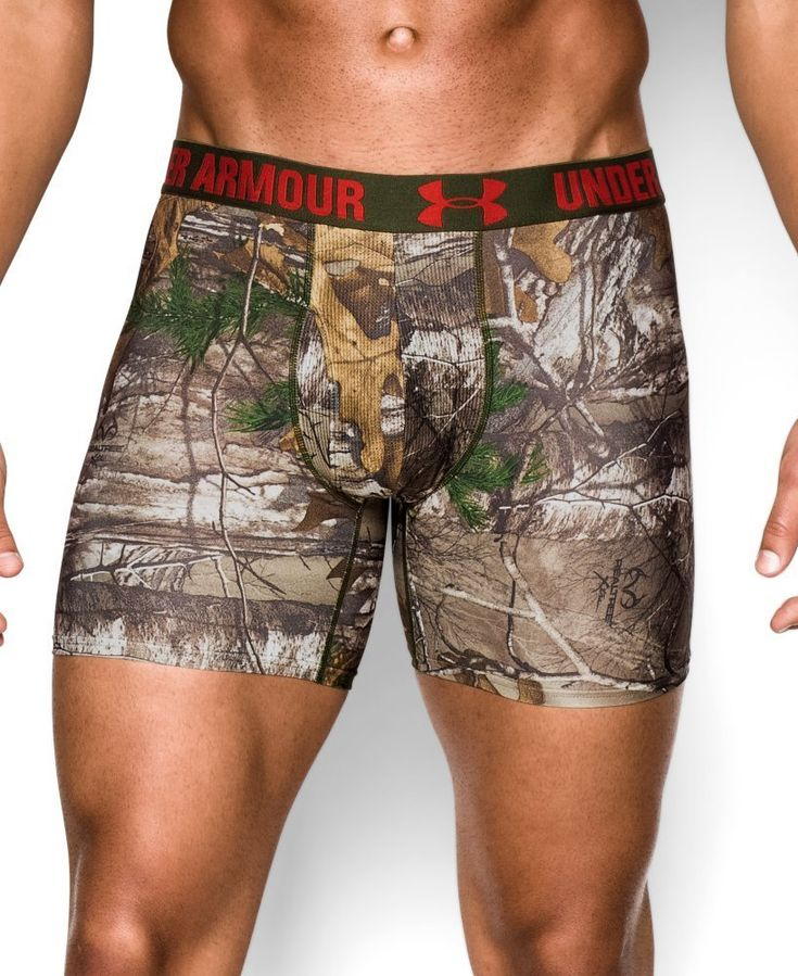 These Realtree Camo Under Armour mens underwear - need to get my man these !