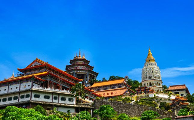 Kek Lok Si Temple in Penang, Malaysia is said to be the largest Buddhist temple in Southeast Asia