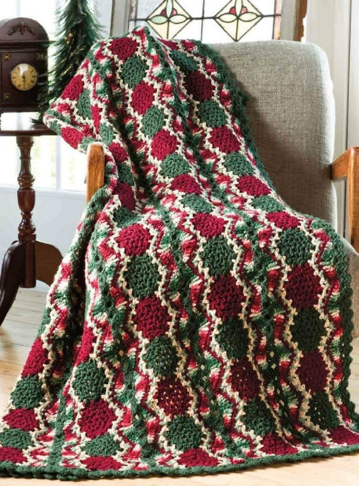 Christmas Afghan Knitting Patterns : 17 Best ideas about Christmas Afghan on Pinterest Crochet christmas, Chroch...