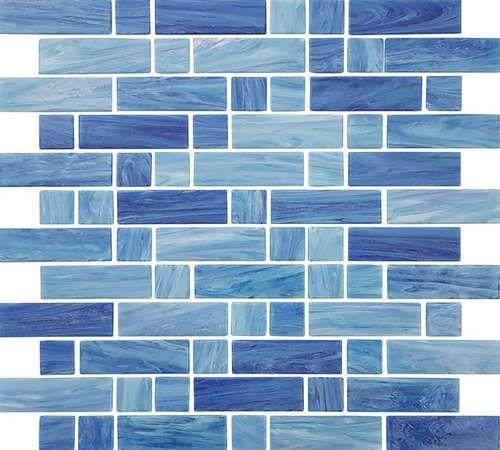 Glasmosaik-Fliesen-Wasser Art Shallow Blue Mix