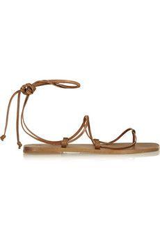 Tomas Maier Leather sandals   NET-A-PORTER