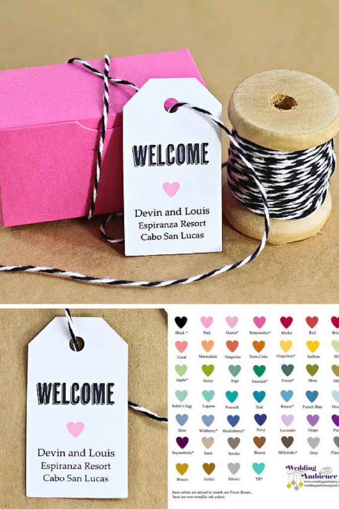Welcome Bags Are A Must For Destination Weddings Its A Small Way Of Saying Thank You For