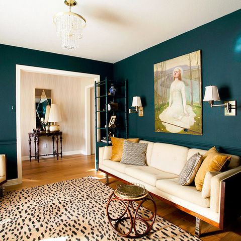 Dark Teal Walls Design Ideas, Pictures, Remodel, and Decor