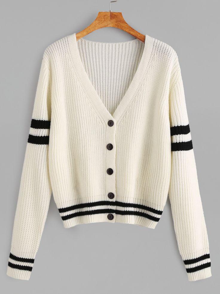 White+Varsity+Striped+Button+Up+Cardigan+29.90