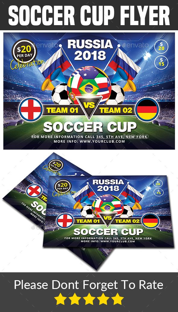 soccer cup flyer template is a professional clean creative