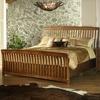 Craftsman Wood Sleigh Bed by Somerton