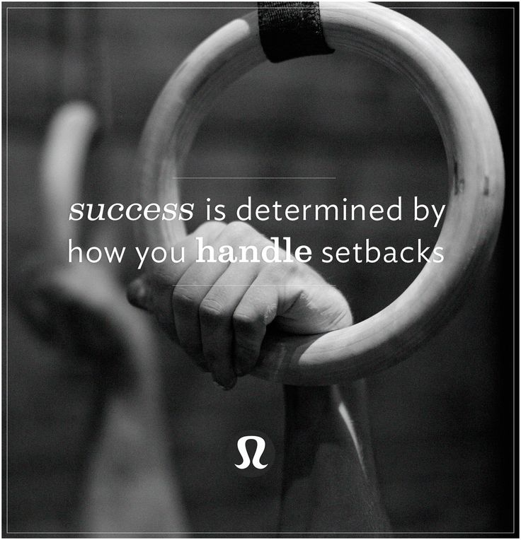 success is determined by how you handle setbacks.