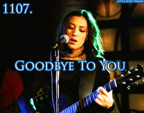 That song while Oz is packing and leaving, and we're left crying with Willow... I loved and hated that. Loved the song, hated the heartbreaking scene.