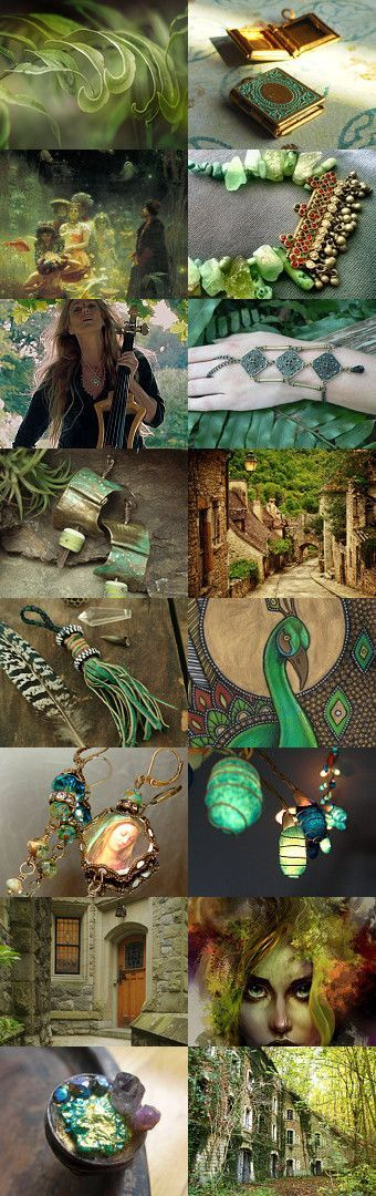 EVER GREEN No.3 by pavonebianco on Etsy--Pinned with TreasuryPin.com