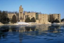 Champlain College in the winter.