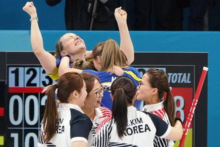 South Koreas Garlic Girls Fall to Sweden in Olympic Curling