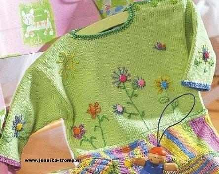 http://www.jessica-tromp.nl baby knit and embroidered sweater