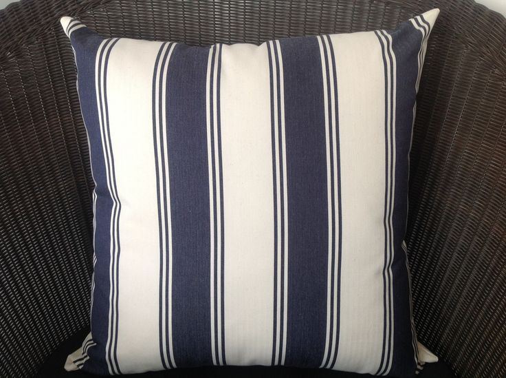 Blue Cream Square Cushion