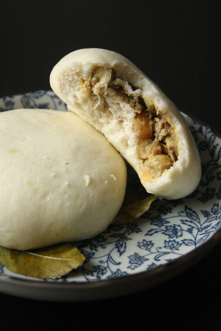 Petits pains vapeur façon Banh Bao farcis au poulet au curry - Beau à la louche